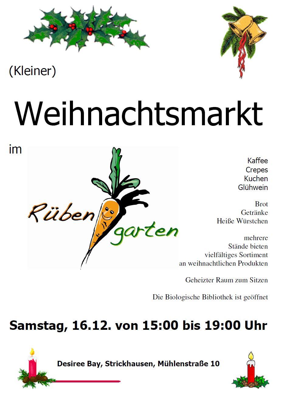 Weihnachtsmarkt in StrickhausenWIBeN e.V.